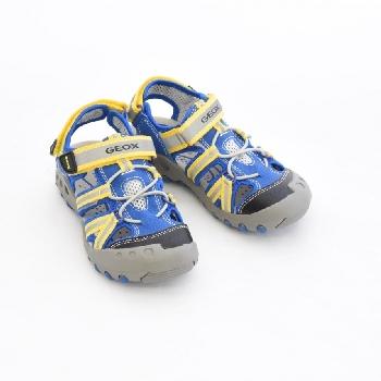 sandale kyle bleu jaune sandale garcon geox cassis marche pas pieds nus chaussures enfants. Black Bedroom Furniture Sets. Home Design Ideas